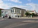 Vizualizace nové nákupní galerie, která by v České Lípě měla nahradit Obchodní