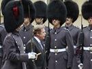 Na snímku Michala Krumphanzla z 21. března 1990 je prezident Václav Havel při