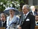 D�nsk� kr�lovna Margrethe a princ Henrik na k�tu �v�dsk� princezny Estelle