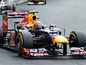 VTZ. Australan Mark Webber s Red Bullem vyhrl Velkou cenu Monaka formule 1.