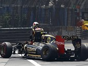 KONEC NADJ. Romain Grosjean opout svj lotus. Francouzsk pilot musel