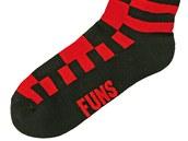Ponožky Funstorm červenočerné