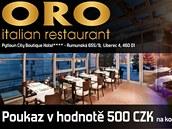 Poukázka do restaurace Oro v Liberci na 500 korun