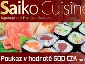 Poukázka do restaurace Saiko v Liberci na 500 korun