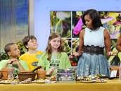 Michelle Obamová při talk show Dobré ráno Ameriko představila svou novou knihu