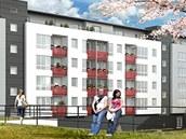 Vizualizace nového bytového domu, který vyroste vedle opraveného pivovaru ve