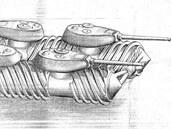 Projekt sněžného tanku z roku 1944