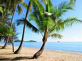 pláž s palmama