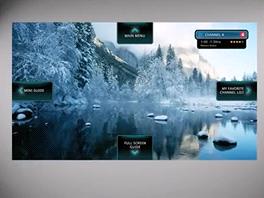DreamGallery - nápověda na obrazovce jasně říká, co která šipka udělá.