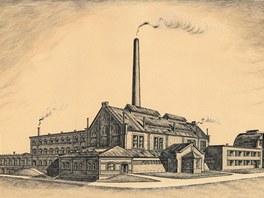 Harrachovská sklárna v roce 1942