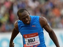 ZASE PRVNÍ. Světový rekordman Usain Bolt na mítinku Zlatá tretra v Ostravě...