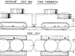 Cromptonův projekt tanku Mark III z roku 1915
