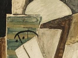 Emil Filla Hlava muže s cylindrem