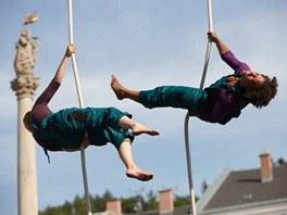 Představení nového cirkusu u trutnovského společenského centra Uffo