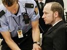 Anders Breivik u soudu.