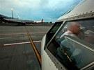 Z ruzyňského letiště odletěl stroj ČSA Boeing 737 - 500. V lakovně v