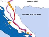 MAPKA: Autem do Chorvatska
