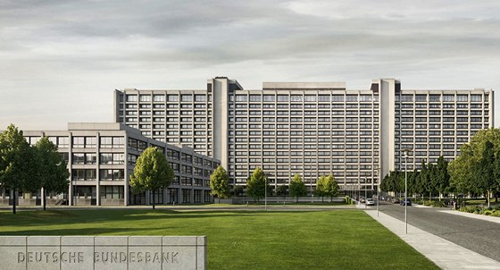 Budova německé Bundesbanky ve Frankfurtu nad Mohanem