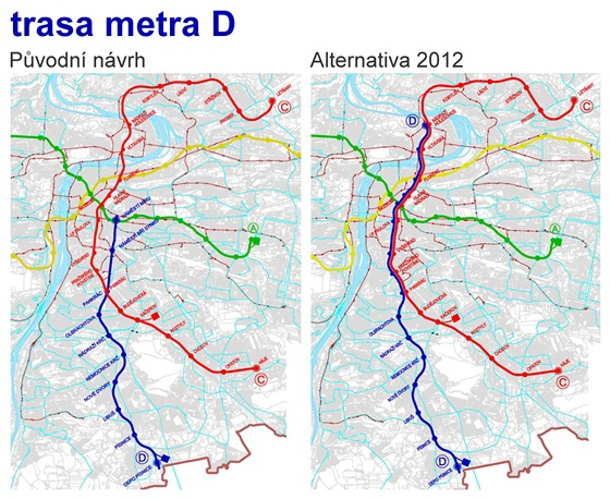 Studie Trasa D pra�sk�ho metra - alternativn� mo�nosti �e�en�