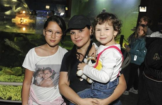 Magda Malá s dcerami Magdou a Terezou