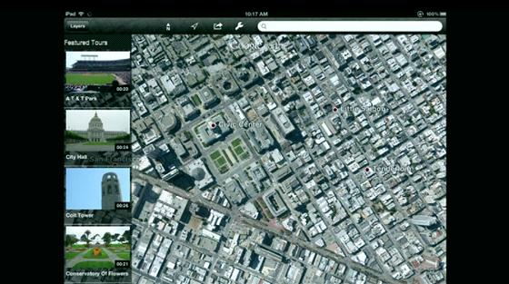 Tabletová aplikace využije 3D pohledu například k představení zajímavých