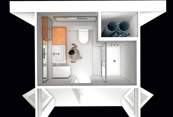 Sprchov� kout je tvo�en keramickou vani�kou Neo ravenna v rozm�ru 120 x 80 cm a