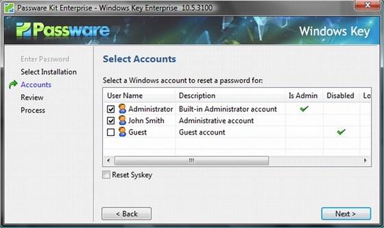 Windows Key se nezdržuje pokusy o zjištění hesla k uživatelskému účtu ve