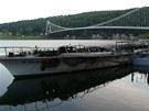 Na Vranovské přehradě v noci hořela loď Dyje. Oheň ji zcela zničil.