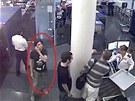 Luka Magnotta, jak ho zachytily bezpečnostní kamery při letištní kontrole.