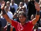 POSEDMÉ. Rafael Nadal slaví postup do sedmého finále Roland Garros.