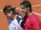 PROMIŇ. Jakoby se Rafael Nadal u sítě omlouval Davidu Ferrerovi za vítězství v
