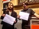 Igor Malijevský a Jaroslav Rudiš poslali Vladimiru Putinovi petici za