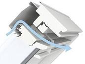 Schéma větrající ventilační klapky