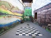 Vazební věznice v Teplicích, vycházkový dvůr