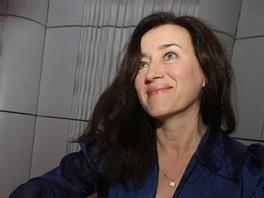 Herečka a zpěvačka Maria Doyle Kennedyová po setkání s novináři na zlínském