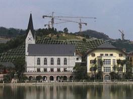 V Číně vznikla kopie rakouského městečka Hallstatt, který je na seznamu UNECO.