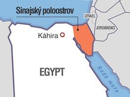 MAPA: Sinajský poloostrov