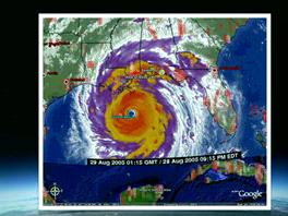 Hurik�n Katrina uk�zal mo�nosti Google Earth p�i z�chrann�ch akc�ch. Masivn�