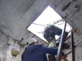 Výstup na vyhlídkovou plošinu geodetické věže
