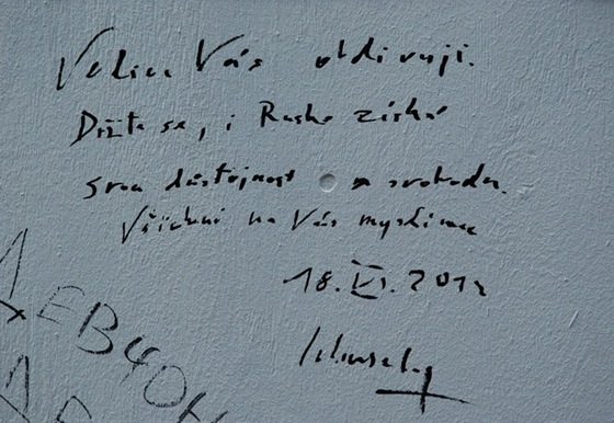 Vzkaz ministra zahraničí Karla Schwarzenberga na Zdi Pussy Riot