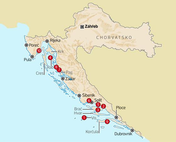 Skryté poklady Chorvatska