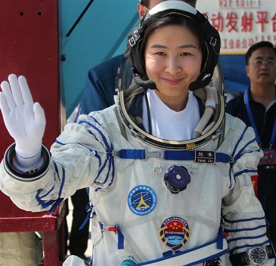 První čínská kosmonautka Yang Liu.