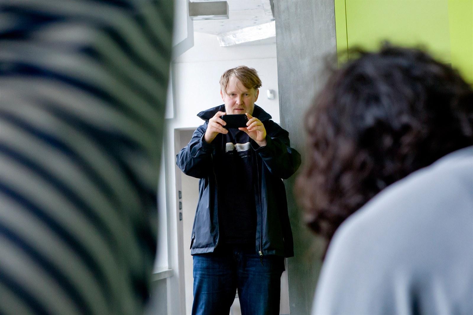 Rozhovor s herci z nového snímku Polski film režiséra Marka Najbrta, na snímku (14. června 2012, Praha).