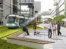Skrz novou �tvr� maj� proj�d�t i tramvaje.