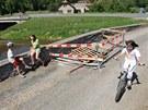 Historick� most v p�ibyslavsk� m�stn� ��sti Ronov nad S�zavou po�kodily na ja�e...