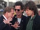 Výstava Prezident Václav Havel, složená z fotografií ČTK (s Rolling Stones v