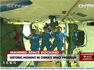 První dva astronauti a jedna astronautka právě vstoupili do Nebeského paláce 1.