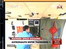 Historický moment v čínském vesmírném programu - 18.6.2012. Nebeský palác 1