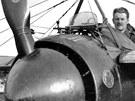 Morane-Saulnier N - dobře je vidět zeslabení listů vrtule