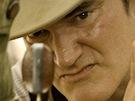 Quentin Tarantino při natáčení filmu Django Unchained